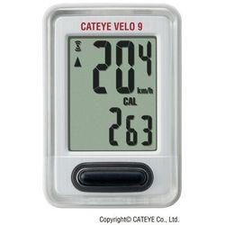 Cateye Licznik rowerowy velo 9 cc vl820 biały