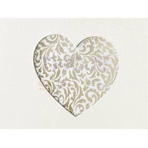 Ap Księga gości weselnych kremowa z ornamentowym sercem - 60 kartek (5901157463562)