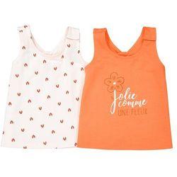 Komplet, 2 koszulki na ramiączkach z nadrukiem, oeko tex 1 miesiąc-3 latka marki La redoute collections