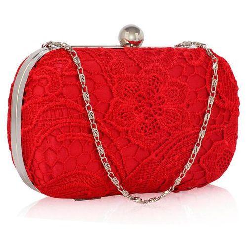 d1d201f516c4d Wielka brytania Czerwona koronkowa torebka wizytowa - czerwony - galeria  produktu