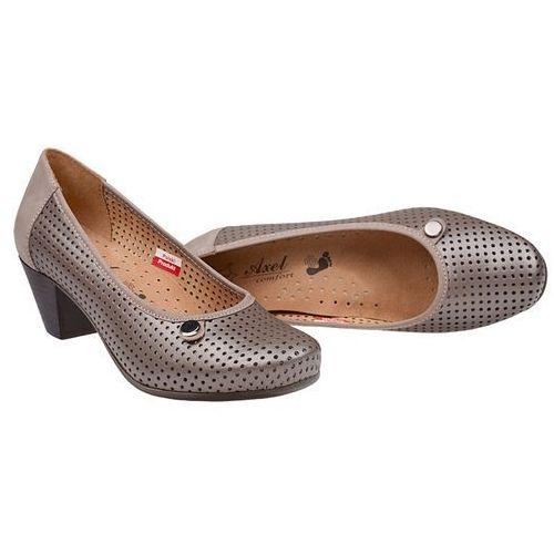 757f95dc33 Czółenka comfort 1593 perła buty na haluksy na obcasie marki Axel - galeria  Czółenka comfort 1593