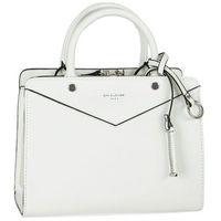 Nieduża klasyczna torebka damska DAVID JONES biała - biały