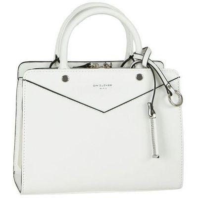 e8846e0f3f90d Nieduża klasyczna torebka damska biała - biały marki David jones  Evangarda.pl