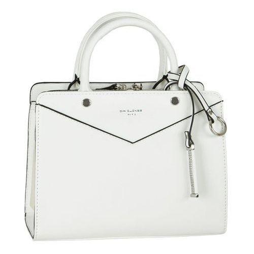 Nieduża klasyczna torebka damska biała - biały marki David jones