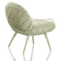 Fotel niski pina zielone rama i siedzisko, zielone nogi marki Magis