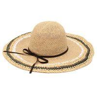 Kapelusz damski plażowy słomkowy na lato duży