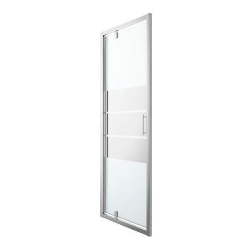 Goodhome Drzwi prysznicowe wahadłowe beloya 80 cm chrom/szkło lustrzane (3663602944867)