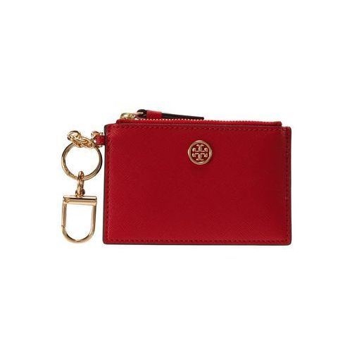 Tory Burch ROBINSON CARD CASE KEY FOB Portfel poppy orange/classic tan, 46576