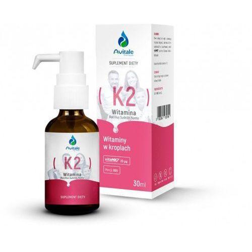 Witamina K2 MK7+ E krople 30 ml Vitamk7 20ug Avitale