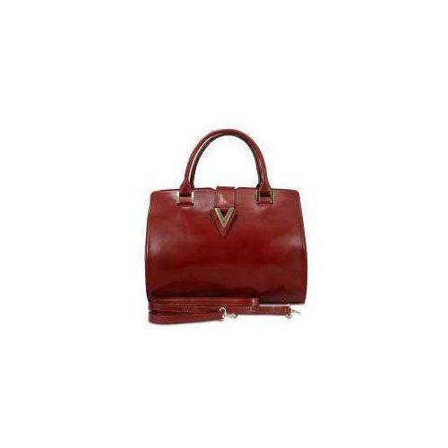 Damska torebka skórzana ROVICKY TWR 31 2 czerwona, kolor czerwony