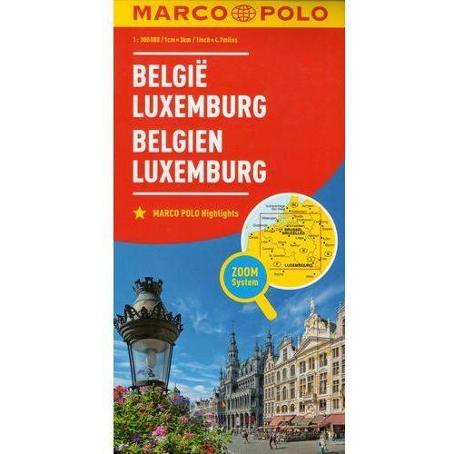 Marco Polo Mapa Samochodowa Belgia Luksemburg 1:300 000 Zoom, Euro Pilot