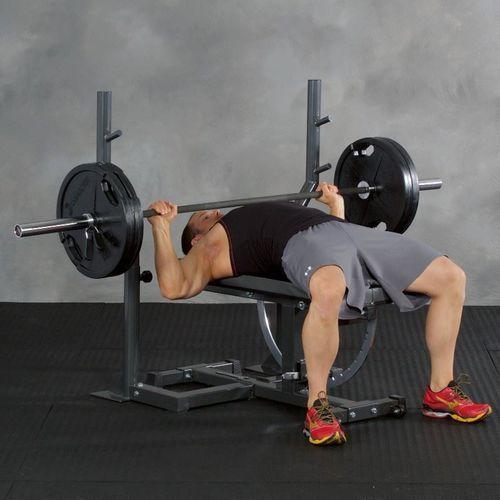 Drążki z uchwytami na sztangę do ławki treningowej super bench Ironmaster