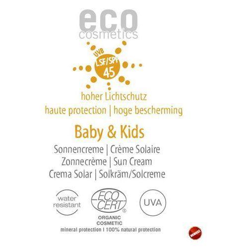 Baby & kids krem na słońce lsf/spf 45 z owocem granatu i rokitnikiem 2 ml Eco cosmetics
