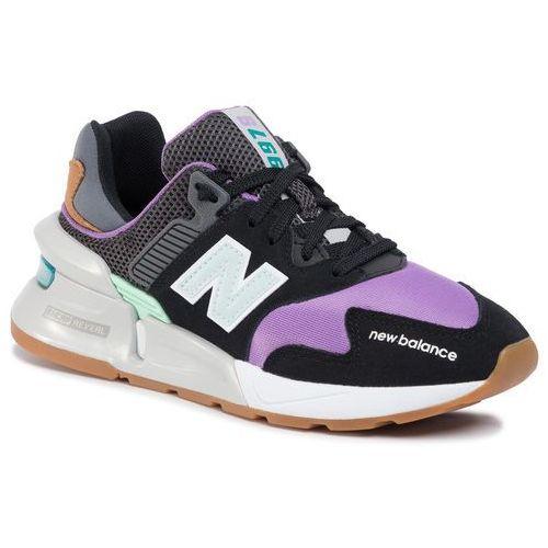 New balance Sneakersy - ws997jgc czarny fioletowy