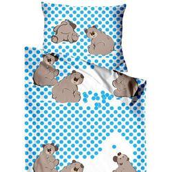 Greno pościel dziecięca do łóżeczka 130x90 cm, niebieskie misie