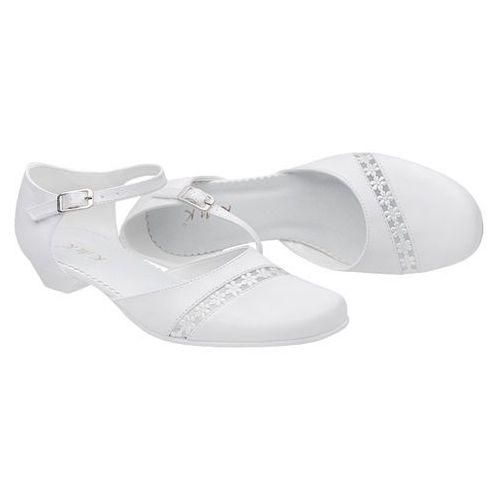 64c1150b Pantofelki buty komunijne dla dziewczynki 45 białe - biały marki Kmk - 2