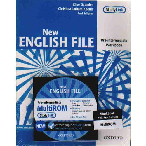 New English File pre-intermediate Workbook with key + Cd