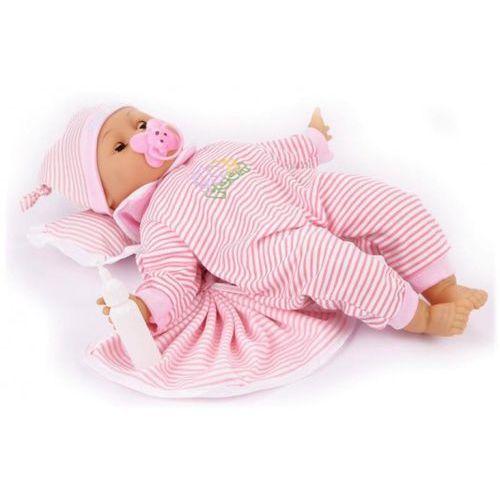 Kecja Lalka interaktywna niemowlę bobas smoczek śpi mówi