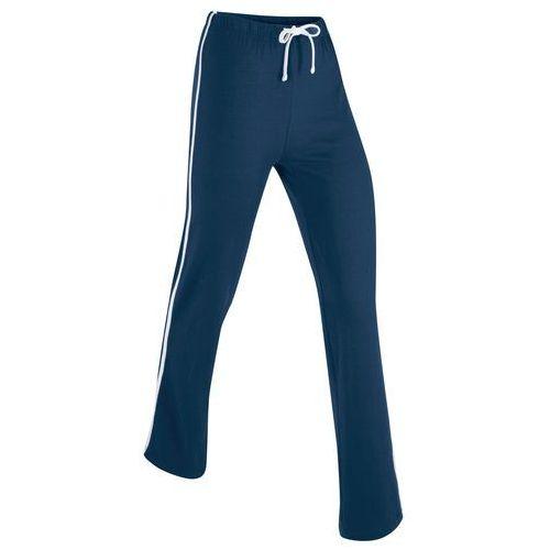 Spodnie sportowe, długie ciemnoniebieski marki Bonprix