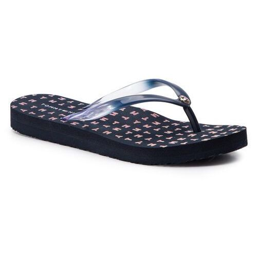 Japonki - colorful tommy flat beach sandal fw0fw04240 midnight 403, Tommy hilfiger, 36-39