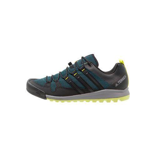 Adidas Performance TERREX SOLO Półbuty trekkingowe mystery green/core black/semi solar yellow