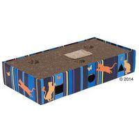 Zooplus Scratch & play drapak dla kota - dł. x szer. x wys.: 45,5 x 24 x 9,3 cm / 2 piłki (4054651629857)