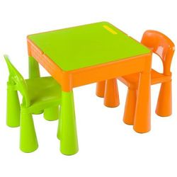 zestaw tega mamut: stołek + 2 krzesełka, pomarańczowo-zielony marki Cosing