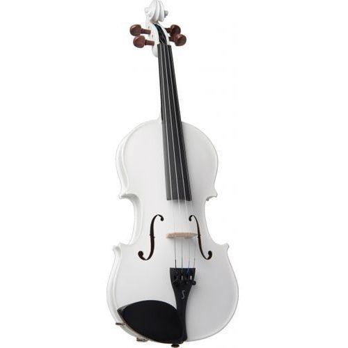 Stentor 1401WHA skrzypce 4/4 Harlequin, zestaw, białe