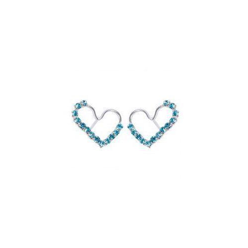 Kolczyki Serce z niebieskimi cyrkoniami, 932F-814AE