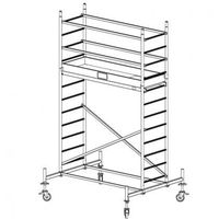 B2b partner Rusztowanie aluminiowe protec 4,3 m