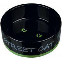 Trixie miska ceramiczna dla kota street cat, 0,3 l/12 cm - darmowa dostawa od 95 zł! (4011905246598)