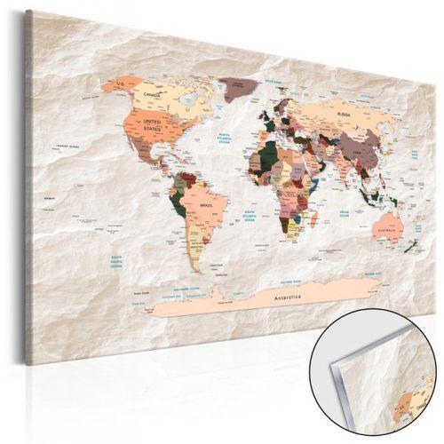 Artgeist Obraz na szkle akrylowym - mapa świata: kamienne oceany [glass]