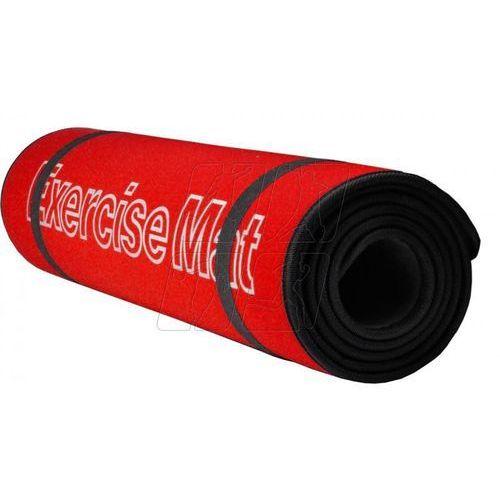 Mata do ćwiczeń 180 x 60 cm czerwono-czarna Allright