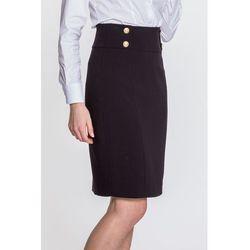 Czarna spódnica z ozdobnymi guziczkami - marki L'ame de femme