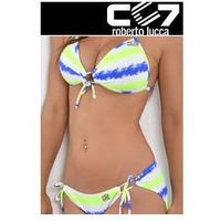 SET Kąpielowki CC7 HEARTS PUSH-UP + SUPER BRIEFS NEON STRIPES no. 4