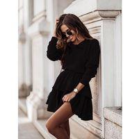 Komplet bluza + krótka spódnica - czarny