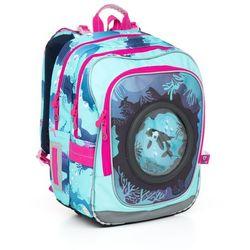 Topgal Plecak szkolny chi 790 d - blue