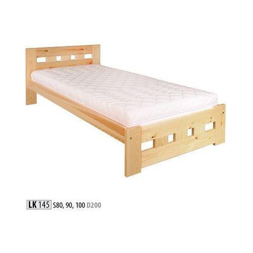 łóżko Sosnowe Lk145 100x200 Olcha Drewmax