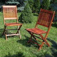 Ogrody leandro Krzesła ogrodowe akacja 2szt - meble toskania 46x56x91cm