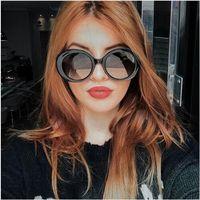 Okulary przeciwsłoneczne damskie czarne okrągłe