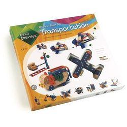 Genii creation Klocki drewniane magnetyczne transportation 110el.