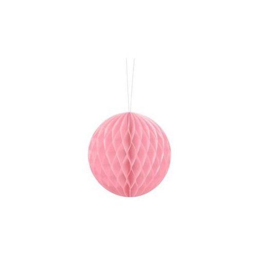 Dekoracja wisząca kula jasnoróżowa - 10 cm - 1 szt. marki Party deco