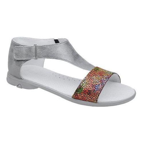 Sandałki dla dziewczynki KORNECKI 4750 Grafitowe Srebrne Multikolor - Grafitowy ||Srebrny ||Multikolor