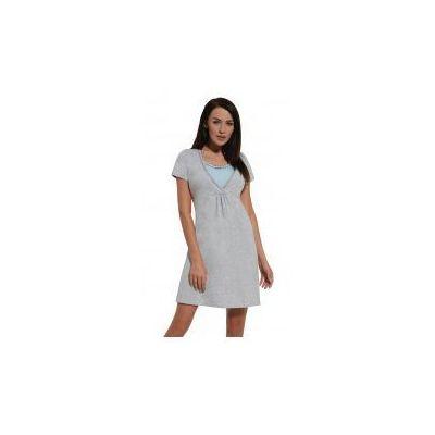 b70f9cabbffef1 Koszula nocna ciążowa i do karmienia - Melanż-Błękit kr. rękaw, kolor  niebieski Slodkisen