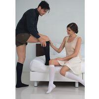 Podkolanówki uciskowe męskie cotton socks 820: rozmiar - 4, kolor - beżowy marki Relaxsan