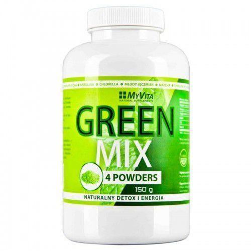 GREEN MIX 4 POWDERS DETOX i ENERGIA 150g Myvita