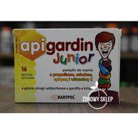 Pastylki BARTPOL APIGARDIN Junior propolis miód do ssania od 3 lat 16 pastylek