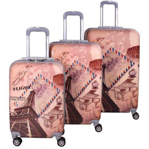 ee3559ffa8463 zestaw walizek eiffel marki Leonardo ceny opinie i recenzje w ...