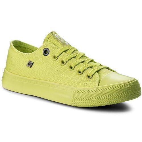 44c17d095af84 Trampki BIG STAR - AA274012A Lime, kolor zielony - Zdjęcie Trampki BIG STAR  - AA274012A