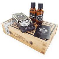 DEAR BARBER Beard Oil zestaw Olej do brody 30 ml + Wosk do wąsów Moustache Wax 25 ml + Edt With Confidence 30 ml dla mężczyzn